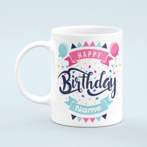 Personalised Balloons Happy Birthday Mug