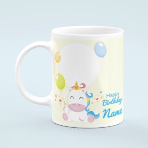 Personalised Unicorn Happy Birthday Photo Mug