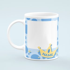 Personalised Blue Photo Mug