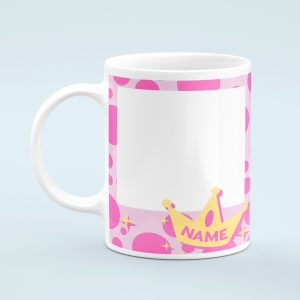 Personalised Pink Photo Mug