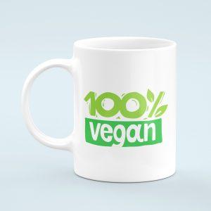 100% Vegan Mug