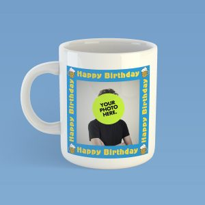 Personalised Happy Birthday Day Photo Mug