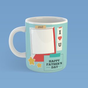 Personalised Happy Father's Day Photo Mug