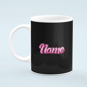 Personalised Pink NameMug
