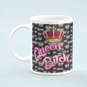 Personalised Pink Queen Bitch Mug
