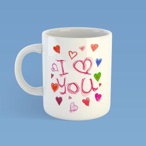 I Love You WatercolourMUG