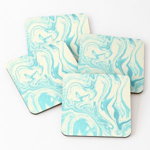 Green Marble Effect Coaster Set